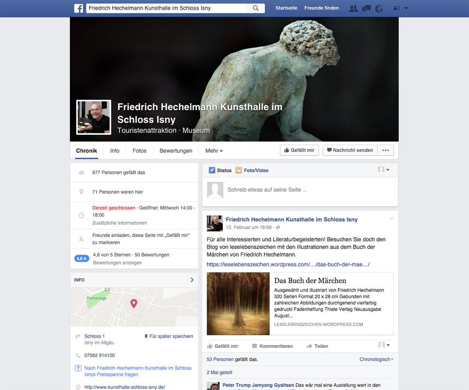Zeitwerk betreut Friedrich Hechelmann Kunsthalle Schloss Isny in den Social Media