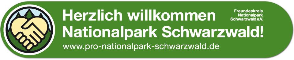 Aufkleber zur Unterstützung der Kampagne Pro Nationalpark Schwarzwald