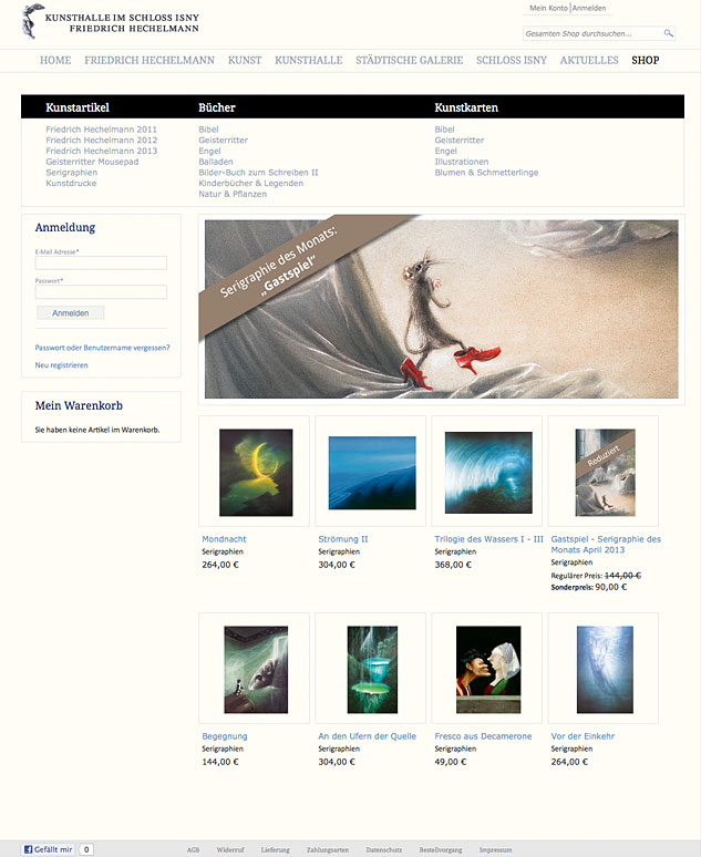 Der Online-Shop ist dank CMS-System einfach zu bedienen und bietet zahlreiche Optionen