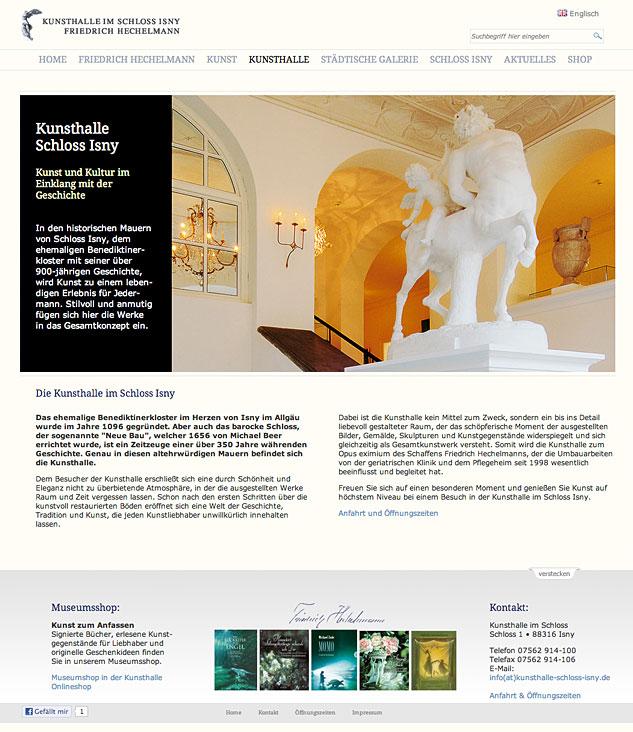 Relaunch der Website für Friedrich Hechelmann im stilvollen, eleganten Corporate Design
