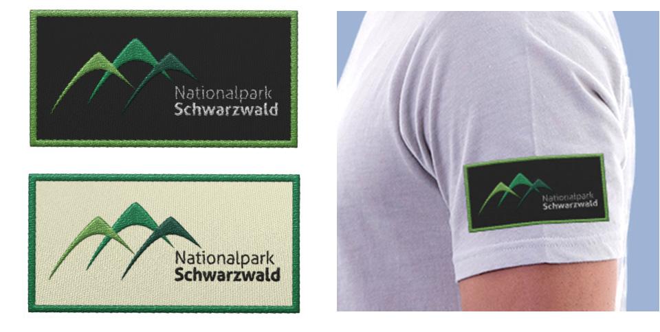 Vom gestickten Aufnäher bis hin zum Bleistift wird der Nationalpark Schwarzwald so optisch in den Mittelpunkt gerückt.