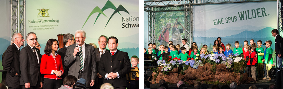 Ministerpräsident Winfried Kretschmann und Minister Alexander Bonde bei der offiziellen Eröffnung
