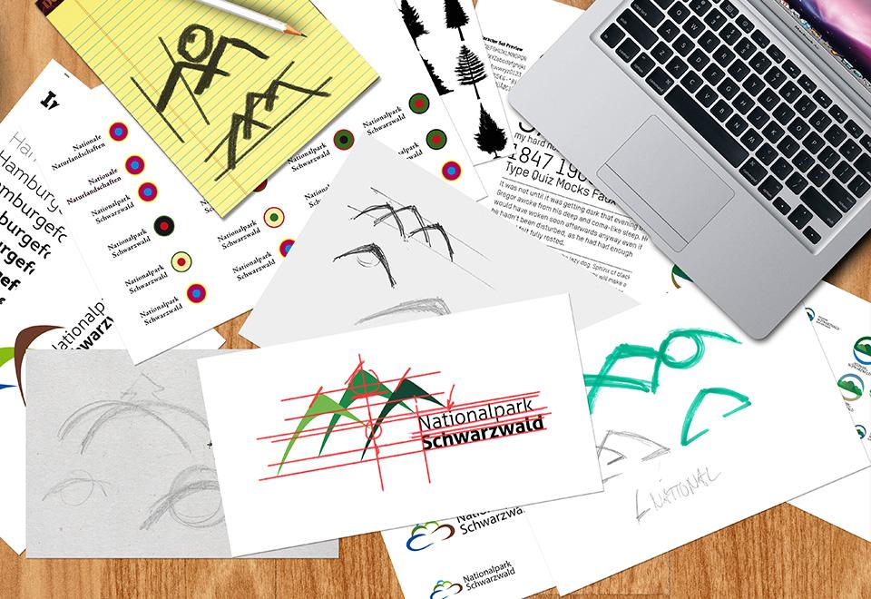 Konzeption für die Logoentwicklung und -gestaltung des Nationalpark Schwarzwald