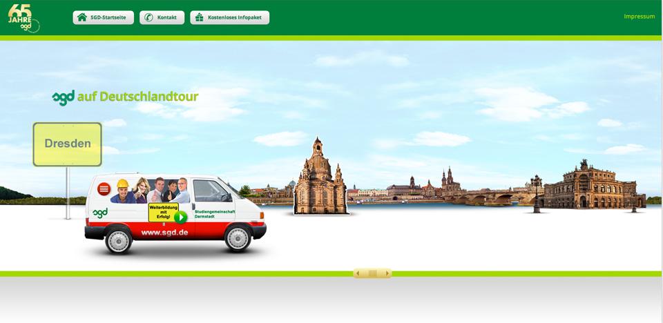 Das Webspecial bietet eine animierte Deutschlandtour, die mit verschiedenen Sounds unterlegt ist.