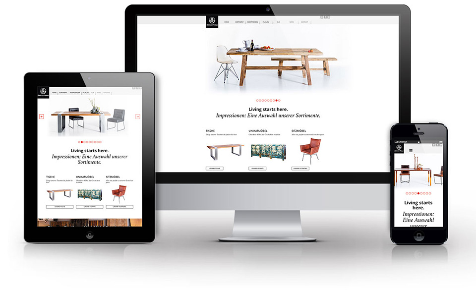 Das Multisite-Webportal wird dank responsive Design auf den Endgeräten optimal dargestellt